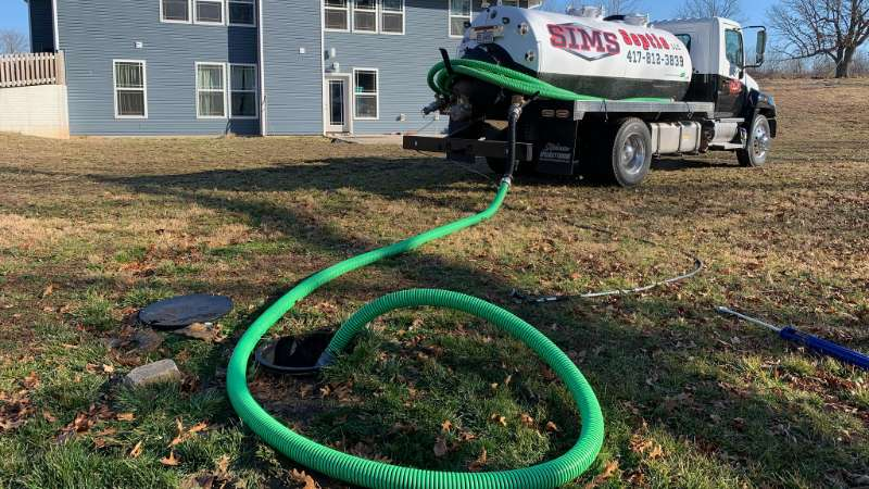 septic system pumping Sims Septic LLC